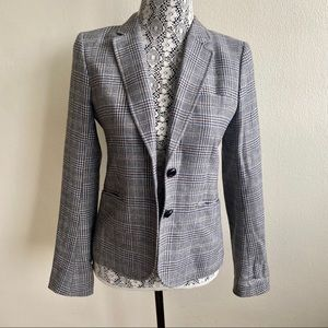 Aritzia Babaton Plaid Checkered Blazer Sz 6